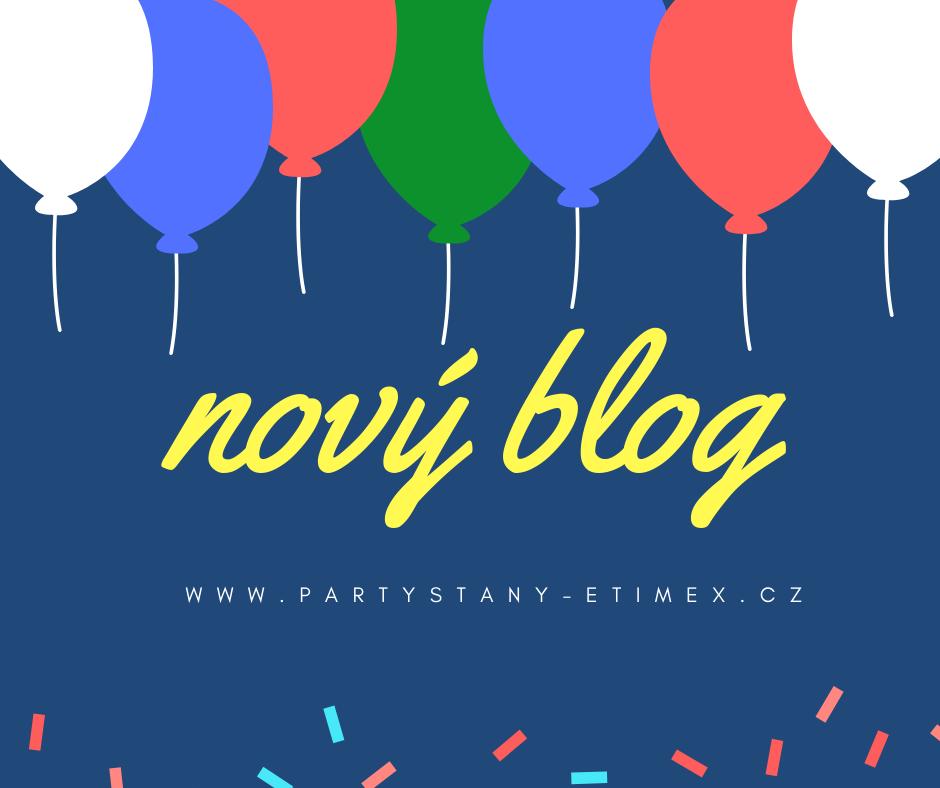 Novým blog s balonky Party stany Etimex